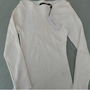 NWT Karen Millen White Long-Sleeve Top